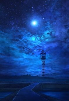 background - night sky above the sea Night Sky Wallpaper, City Wallpaper, Anime Scenery Wallpaper, Nature Wallpaper, Galaxy Wallpaper, Awsome Pictures, Moonlight Photography, Anime Places, Nostalgic Art