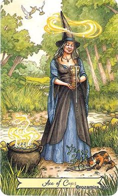 The origins of the Tarot are surrounded with myth and lore. The Tarot has been thought to come from places like India, Egypt, China and Morocco. Others say the Tarot was brought to us fr Pagan Witch, Wiccan, Deviant Art, Vintage Witch, Witch Art, Oracle Cards, Halloween Art, Halloween Witches, Tarot Decks