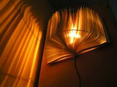 20 Creative DIY Lamp Ideas - i think my brother would like this for a reading corner!