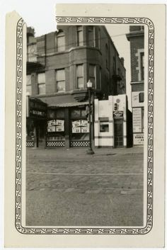 Exterior view of former White Castle number 18. Located at 6134 Easton Ave. in St. Louis, Missouri. White Castle sold the building in April of 1939. Sign on building reads Brock & Wright Sandwich Shop.