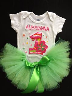 Hula Girl Luau Tutu Outfit  on Etsy, $60.00