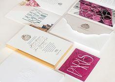 Gilded Parisian Wedding Invitations via @Oh So Beautiful Paper: http://ohsobeautifulpaper.com/2013/10/chris-yelenas-gilded-parisian-wedding-invitations/ | Design + Photo: Atelier Isabey #paris #wedding