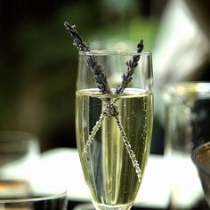Lavender infused champagne. Photo by thechalkboardmag