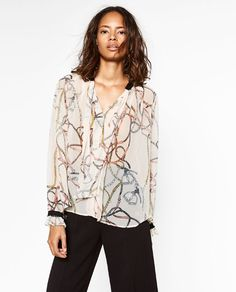 Afbeelding 2 van BLOUSE MET PRINT van Zara € 16,-