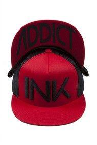 """INK Trucker"" Hat by InkAddict (Red/Black) #InkedShop #InkedMag #INK #Trucker #Hat #Red #Black"