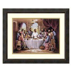 Amanti Art The Last Supper Framed Wall Art, Brown Oth