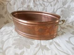 Vintage Planter, cooper planter, double planter, made in Holland
