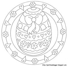 Easter Coloring Page Spring Coloring Pages, Easter Coloring Pages, Mandala Coloring Pages, Free Coloring Pages, Coloring Books, Egg Crafts, Easter Crafts, Easter Coloring Pictures, Easter Season