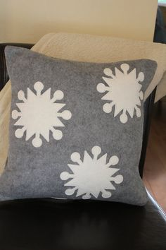 16x16 Snow Place Like Home Pillow Cover by KelsCozyCorner on Etsy, $30.00
