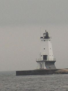 Lighthouse on lake Michigan in Ludington Michigan