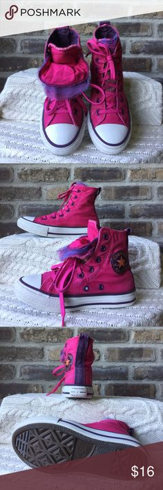 Chuck Taylor Converse All-Stars Girls size 11 1/2 chuck Taylor pink converse All-Stars. They have been worn. Converse Shoes Sneakers
