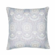 Lennol | ODELIA Ornamental design patterned cushion, light blue