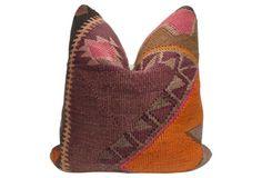 Anatolian Kilim   Wool Rug Pillow