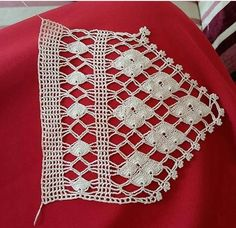 Crochet Lace Edging, Crochet Borders, Crochet Squares, Cotton Crochet, Love Crochet, Filet Crochet, Crochet Doilies, Easy Crochet, Crochet Stitches