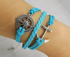Antique Silver Infinity Bracelet anchor bracelet by Colorbody, $3.99