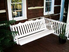 A & L Furniture Royal English Yellow Pine 4ft. Porch Swing