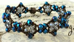 Linda's Crafty Inspirations: Bracelet of the Day: Sweet Romance Variation
