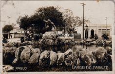 """""""Largo do Paraizo"""", atual praça Oswaldo Cruz, onde começa a avenida Paulista."""