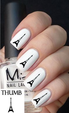 Eiffel Tower nail decal by DesignerNails on Etsy, $3.95