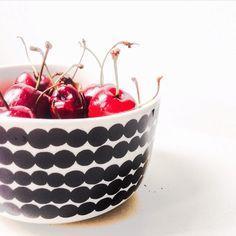 Healthy Fruits, Marimekko, Dinnerware, Serving Bowls, Cherry, Black And White, Tableware, Summer, Profile