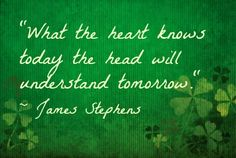 Happy Valentine's Day! A wonderful love quote from an Irish writer! Do you agree?  via babble.com