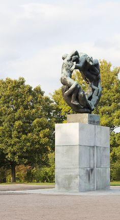 taken at the Frogner park / Vigeland park in Oslo, Norway Oslo, Norway, Photographs, Lion Sculpture, Statue, Park, Photos, Parks, Sculptures