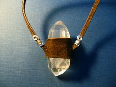 A Natural Witch- Grimoire of Life and Practice: How To Make a Crystal Necklace with Leather!