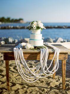 Gorgeous wedding cake in a seaside setting. Nautical Wedding Inspiration, Event Decor, Event Ideas, Seaside Wedding, Event Styling, Nautical Theme, Wedding Details, Style Me, Elegant