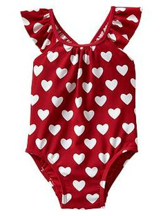 Printed flutter one-piece from baby gap - Brookelynn's first swim suit