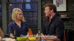 """""""Please, please don't break up with me again! Our child needs a father!""""   Baby Daddy"""