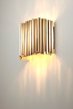 CONTEMPORARY LIGHTING 10 GOLDEN SCONCES Stainless steel Steel