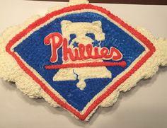 Philadelphia Phillies Cupcake Cake