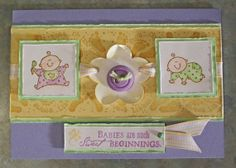 Handmade Baby Card, Stampin Up Baby Firsts