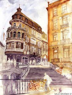 Beautiful Watercolor Paintings of European Landmarks - My Modern Metropolis