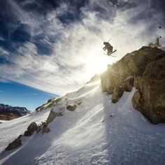 GoPro Featured Photographer - @PeterMorning  About the Shot: One of my favorite runs at @MammothMountain is Climax. This run starts at 11053 feet at the top of the Sierras and features fun little obstacles to take photos from. This image has a special place in my heart because it was the first day shooting with my #GoPro #HERO4.  I ripped open the box like a kid on Christmas and with no plan I threw on all my gear and ran to the gondola building with no athletes no location - just pure…