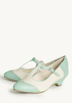 Ione Indie Kitten Heels | Modern Vintage New Arrivals | Mint & Ivory