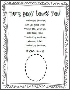 Mother's Day Thumb Body Loves You Poem This is a FREE page for Mother's Day. We are making Thumb print heart necklaces for Mother's Day and I wanted a little something to go with them. Mother And Father, Mother Day Gifts, Thumbprint Necklace, Love You Poems, Mother's Day Projects, School Projects, Project Ideas, Mother's Day Activities, Christmas Activities