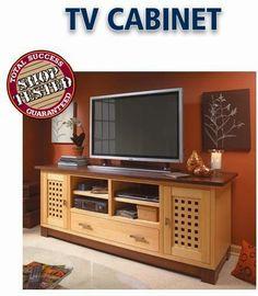 Ah! E se falando em madeira...: Gabinete para TV