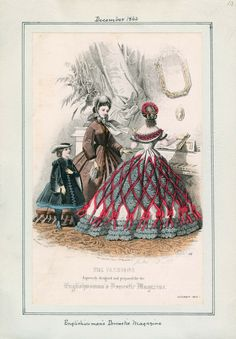 December, 1862 - Englishwoman's Domestic Magazine // see above: June, 1862 - Le Moniteur de la Mode