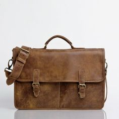 Roots Original Briefcase in Vintage Tribe Leather | Briefcases | Roots