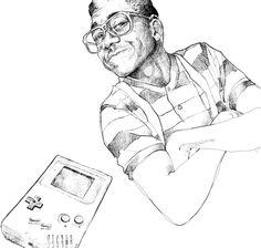 Steve & the gameboy, Sketch, 2014 Sketch, Illustration, Sketch Drawing, Sketches, Illustrations, Tekenen, Draw