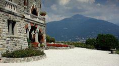 ღღ Garden at Villa La Gaeta in San Siro, Lake Como, Italy .