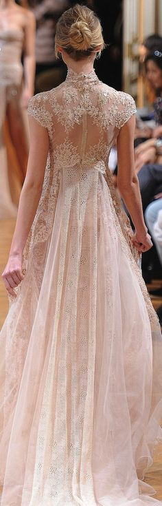 Zuhair Murad Fall 2013 Couture Gown.  I'll bet the front of this gown is beautiful.