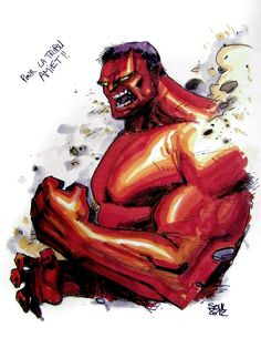 #Red #Hulk #Fan #Art. (RED HULK) By: Soul-the-Awkward. ÅWESOMENESS!!!™ ÅÅÅ+