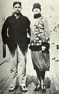 Tarsila do Amaral e Oswald de Andrade em 1928. Brazilian painters and spouses