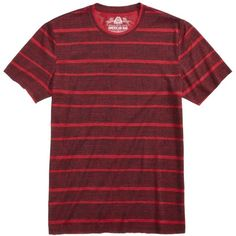 American Rag Men's Texture Stripe T-Shirt, Created for Macy's (42 BRL) ❤ liked on Polyvore featuring men's fashion, men's clothing, men's shirts, men's t-shirts, worn red, mens striped shirt, mens red t shirt, mens stripe shirts, mens red striped shirt and mens red shirt