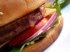 Grilled New York Steakburgers Sandwich Recipes, Hamburger, Steak, Grilling, Sandwiches, Tasty, New York, King, Friends
