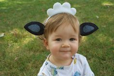 Wool Felt Sheep Ears Headband by TheThreadHouse on Etsy, $14.00