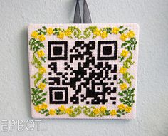 Scannable QR code that translates to Home Sweet Home.