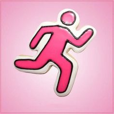 Our Pink Runner cookie cutters are approximately 3-1/2 inches tall, 2-1/2 inches wide, depth just under 1 inch and are made out of pink plastic. Cleaning instructions: hand wash, towel dry. Buy your p